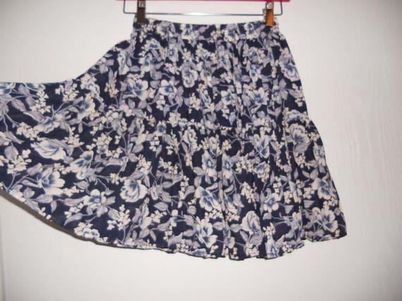 Vintage 90's Floral High Waisted sheer skirt Grunge
