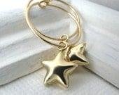Gold Star Earrings Small Gold Hoop Earrings 14K Gold Fill Dainty Earrings Gold