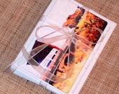 Roseman Covered Bridge In Autumn Note Cards