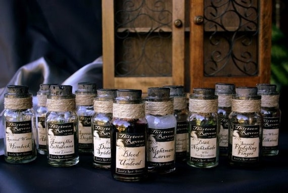 RESERVED LISTING for REBECCA Potion Bottle Labels - Small Spice Sized, Set of 12