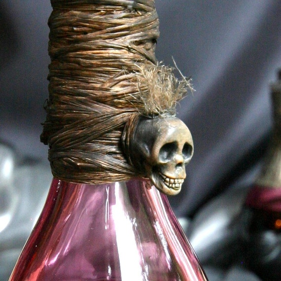 Large Mysterious Voodoo Curio Potion Bottle