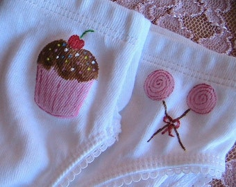 Cute as a Cupcake Panty (girls size 2/3)