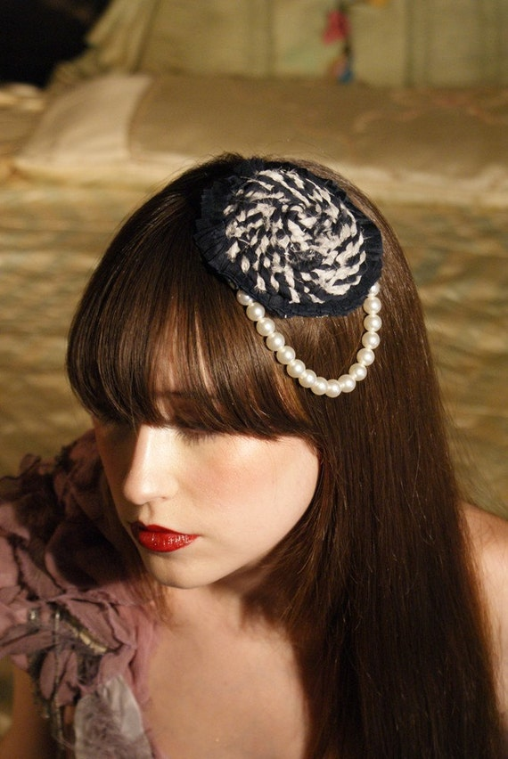 I Love Factory Boudoir Queen Collaboration for Fall Runway Show 2010 Girl with the Pearl Fascinator