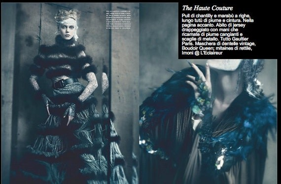 Italian Vogue Shoot Custom Mask Made Boudoir Queen