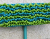 One Turquoise and Lime Green 2-Sided Reusable Swiffer Cloth - The Bright Colorful Ecofriendly Pet Safe Way to Clean