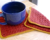 Thick Pot Holders - Thick Potholders - Cotton Pot Holders - Cotton Potholders - Thick Trivets - Cotton Trivets - Thick Cotton Pot Holders