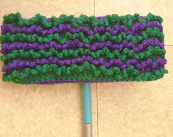 Purple and Green Swiffer Cloth - Purple and Green Floor Dusting Cloth - Two Sided Swiffer Cloth - Two Sided Floor Dusting Cloth