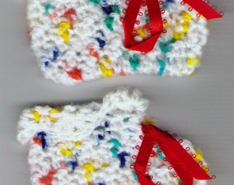 Crocheted Baby Booties - Circus