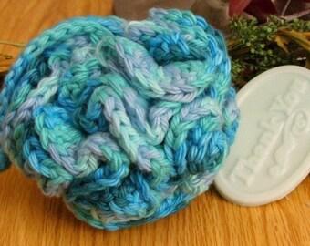 Crocheted Oceana Bath Puff - SAMPLE soap included