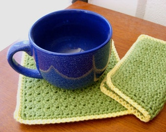 Thick Potholders - Cotton Potholders - Thick Pot Holders - Cotton Pot Holders - Thick Trivets - Cotton Trivets - Crochet Pot Holders