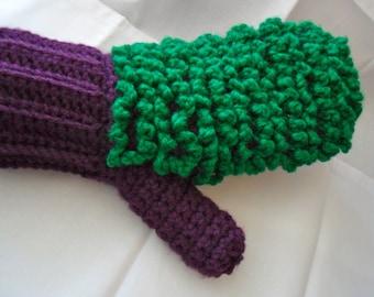 Purple Dusting Mitt - Green Dusting Mitt - Ecofriendly Dusting Mitt - Purple Dusting Mitten - Green Dusting Mitten - Purple Hand Duster