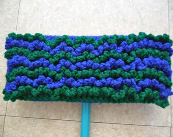 One Blue and Kelly Green 2-Sided Reusable Swiffer Cloth - The Bright Colorful Ecofriendly Pet Safe Way to Clean