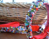 tie dye - 20 inch collar and 6 foot leash set