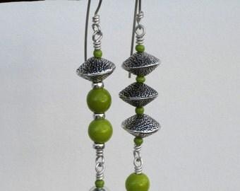Lime n Sterling Earrings Dangles