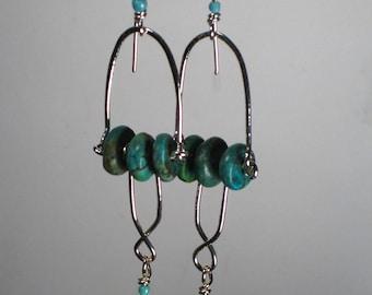 Turquoise Sterling Dangle Earrings
