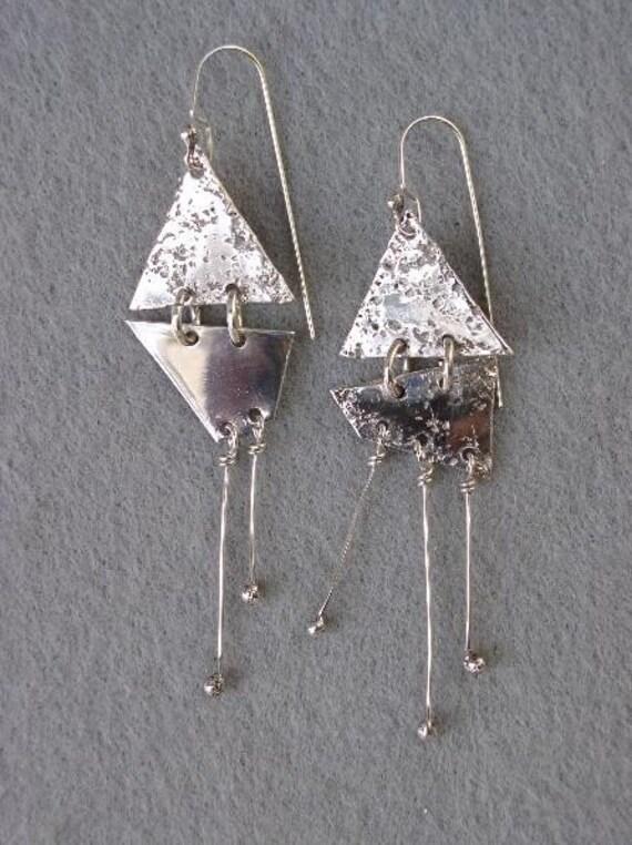Sterling Silver Dangle Earrings Mismatched SALE