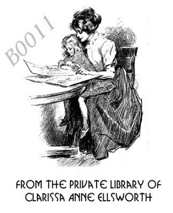Personalized Ex Libris Bookplate Great Gift Assortment P