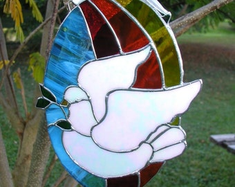 Peace Dove with Rainbow