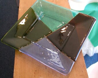 Plate fused art glass