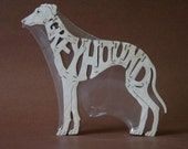 Greyhound Wooden Dog Toy Puzzle Hand Cut with Scroll Saw