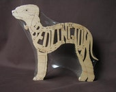 Bedlington Terrier  Dog Puzzle Wooden Toy Hand Cut with Scroll Saw