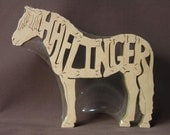 Haflinger Horse Pony Puzzle Wood Animal Toy Hand Cut with Scroll Saw