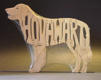 Hovawart Wooden Dog Toy Puzzle Hand Cut with Scroll Saw