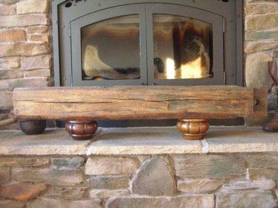 Antique reclaimed hand hewn beech rustic wood barn beam wall