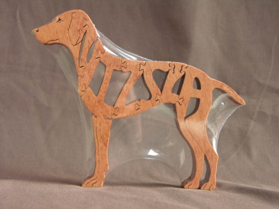 Vizsla Dog Puzzle Wooden Toy Hand Cut with Scroll Saw