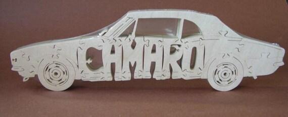 Vintage Camaro  Car Toy Wooden Hand Cut Puzzle