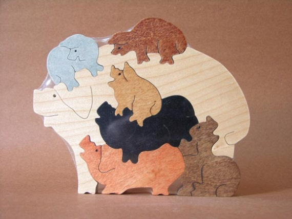 Scroll Saw Wooden Puzzles