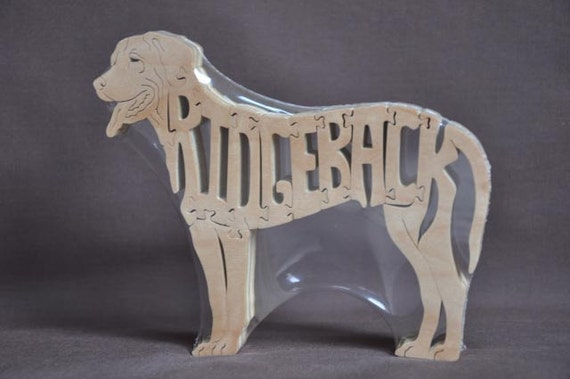 Rhodesian RidgebackDog Puzzle Wooden Toy Hand Cut with Scroll Saw