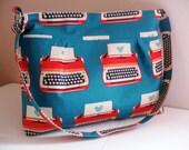 Handbag made of Imported Japanese Fabric by Kokka Typewriter Fabric