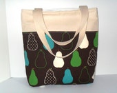 Clearance sale/ last one/ Linen and Cotton Carry All Tote