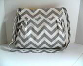 Handbag Made of Chevron Fabric / Adjustable Strap