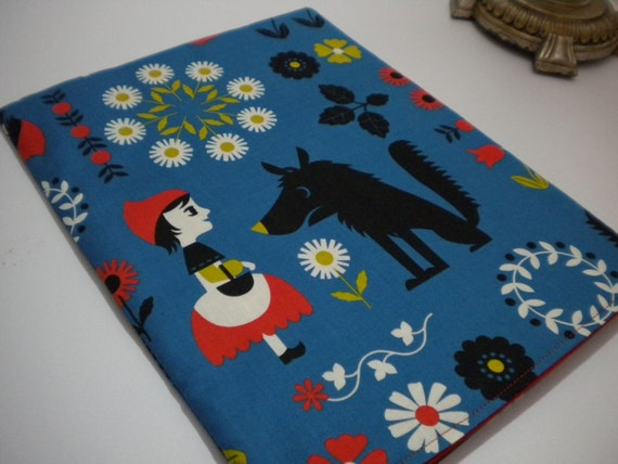 Netbook or Mini Laptop Sleeve\/Fits Mini Notebooks 10.1 Inch or Smaller\/Little Red Riding Hood Imported Japanese Fabric