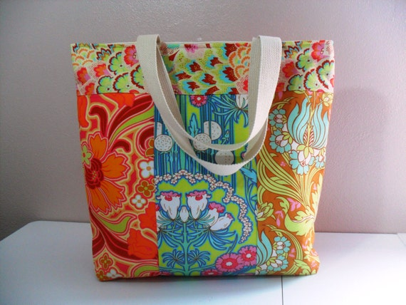 Clearance Sale/ Last One/Patchwork Carry All Tote in Amy Butler  Fabrics