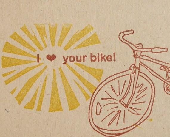 i heart your bike tag