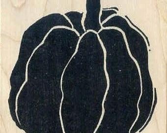 Giant bold pumpkin rubber stamp