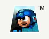 Megaman 3D Mosaic (Medium Sized Print)