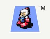 Bomberman 3D Mosaic (Medium Sized Print)