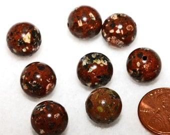 Brown Mica Quartz Round Beads 12mm 16 Beads Supply
