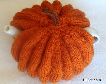 Knitted Pumpkin  Teapot Cozy