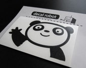 waving PANDA decal