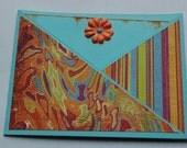 Funky blue and orange card