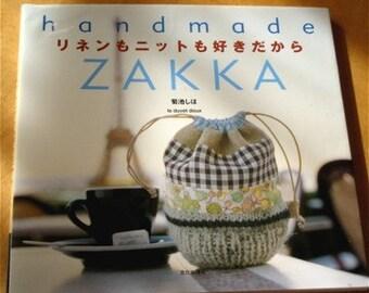 Japanese Pattern Book Handmade Linen Zakka