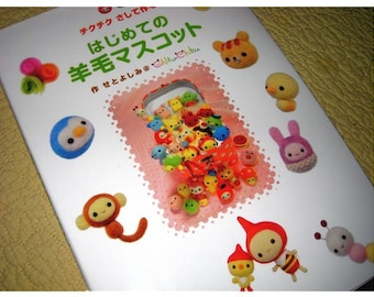 Japanese Craft Pattern Book My First Needle Felted Wool Mascots