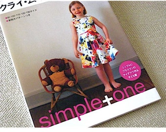 Japanese Craft Pattern Book Sewing for Kids Simple+One