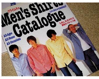 Japanese Craft Pattern Book Sewing Men's Shirts Catalogue