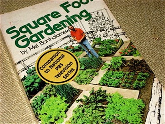 RESERVED FOR ycneedle  Vintage book Square Foot Gardening  by mel bartholomew PBS Show